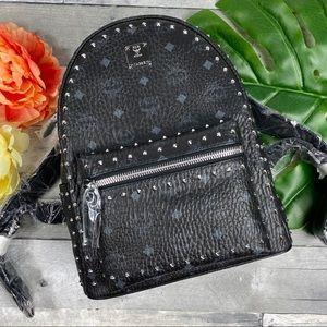 MCM stark studded Small black backpack 32